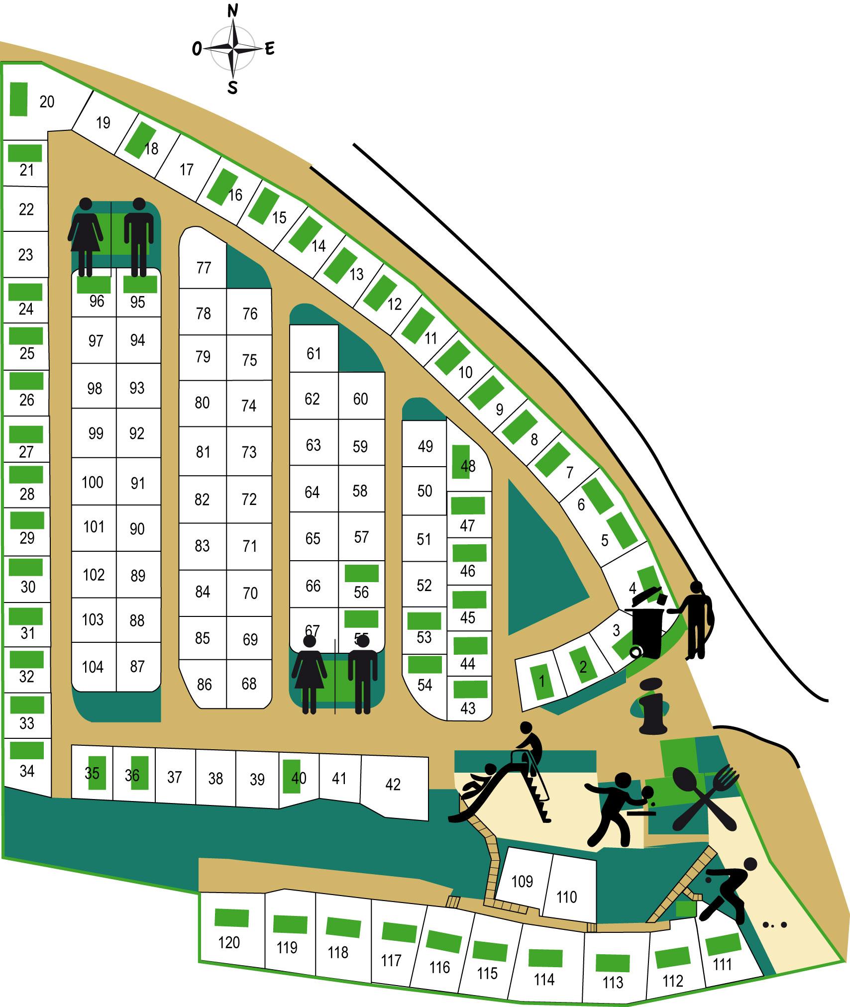 Plan du camping Pascalounet